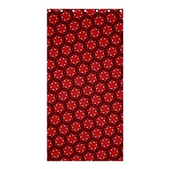 Red Passion Floral Pattern Shower Curtain 36  X 72  (stall)  by DanaeStudio