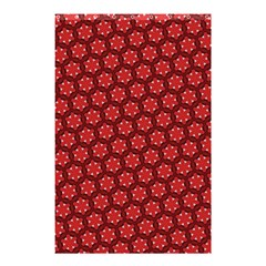 Red Passion Floral Pattern Shower Curtain 48  X 72  (small)  by DanaeStudio