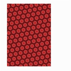 Red Passion Floral Pattern Large Garden Flag (two Sides) by DanaeStudio
