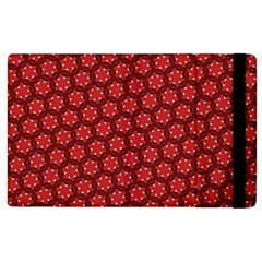 Red Passion Floral Pattern Apple Ipad 2 Flip Case by DanaeStudio