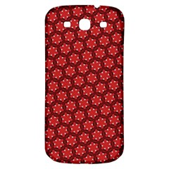 Red Passion Floral Pattern Samsung Galaxy S3 S Iii Classic Hardshell Back Case by DanaeStudio