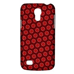 Red Passion Floral Pattern Galaxy S4 Mini by DanaeStudio