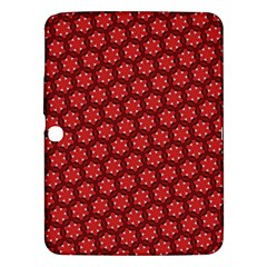Red Passion Floral Pattern Samsung Galaxy Tab 3 (10 1 ) P5200 Hardshell Case  by DanaeStudio