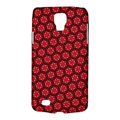 Red Passion Floral Pattern Galaxy S4 Active by DanaeStudio