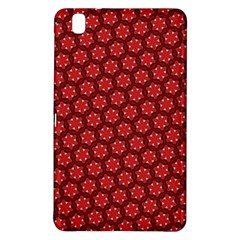 Red Passion Floral Pattern Samsung Galaxy Tab Pro 8 4 Hardshell Case by DanaeStudio