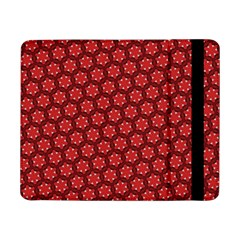 Red Passion Floral Pattern Samsung Galaxy Tab Pro 8 4  Flip Case by DanaeStudio