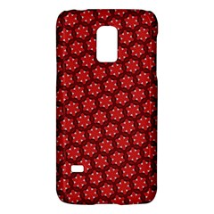 Red Passion Floral Pattern Galaxy S5 Mini by DanaeStudio