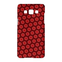 Red Passion Floral Pattern Samsung Galaxy A5 Hardshell Case  by DanaeStudio