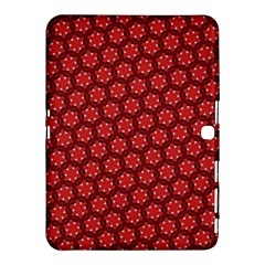 Red Passion Floral Pattern Samsung Galaxy Tab 4 (10 1 ) Hardshell Case  by DanaeStudio