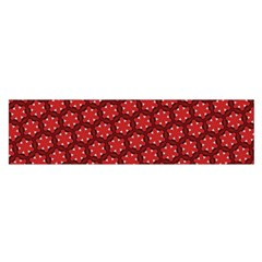 Red Passion Floral Pattern Satin Scarf (oblong) by DanaeStudio