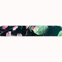 Modern Green And Pink Leaves Small Bar Mats by DanaeStudio