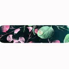 Modern Green And Pink Leaves Large Bar Mats by DanaeStudio