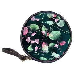 Modern Green And Pink Leaves Classic 20 Cd Wallets