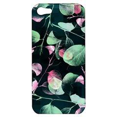 Modern Green And Pink Leaves Apple Iphone 5 Hardshell Case