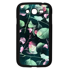 Modern Green And Pink Leaves Samsung Galaxy Grand Duos I9082 Case (black) by DanaeStudio