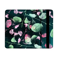 Modern Green And Pink Leaves Samsung Galaxy Tab Pro 8 4  Flip Case by DanaeStudio