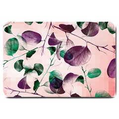 Spiral Eucalyptus Leaves Large Doormat  by DanaeStudio