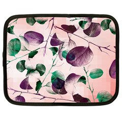 Spiral Eucalyptus Leaves Netbook Case (large) by DanaeStudio