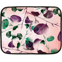 Spiral Eucalyptus Leaves Double Sided Fleece Blanket (mini)  by DanaeStudio