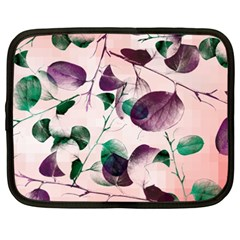 Spiral Eucalyptus Leaves Netbook Case (xxl)  by DanaeStudio