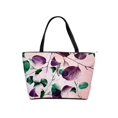 Spiral Eucalyptus Leaves Shoulder Handbags by DanaeStudio