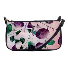 Spiral Eucalyptus Leaves Shoulder Clutch Bags by DanaeStudio