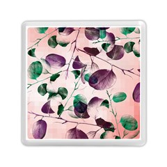 Spiral Eucalyptus Leaves Memory Card Reader (square)  by DanaeStudio