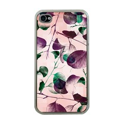 Spiral Eucalyptus Leaves Apple Iphone 4 Case (clear) by DanaeStudio