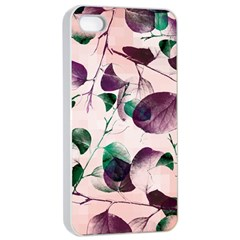 Spiral Eucalyptus Leaves Apple Iphone 4/4s Seamless Case (white) by DanaeStudio