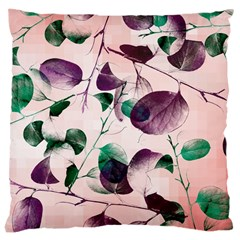 Spiral Eucalyptus Leaves Large Cushion Case (two Sides) by DanaeStudio
