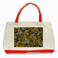 Antique Anciently Gold Blue Vintage Design Classic Tote Bag (red) by designworld65