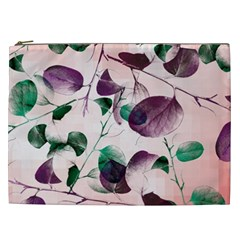 Spiral Eucalyptus Leaves Cosmetic Bag (xxl)  by DanaeStudio