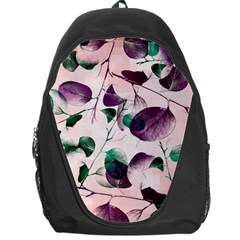 Spiral Eucalyptus Leaves Backpack Bag by DanaeStudio