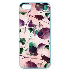 Spiral Eucalyptus Leaves Apple Seamless Iphone 5 Case (color) by DanaeStudio
