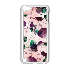 Spiral Eucalyptus Leaves Apple Ipod Touch 5 Case (white) by DanaeStudio