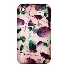 Spiral Eucalyptus Leaves Apple Iphone 3g/3gs Hardshell Case (pc+silicone) by DanaeStudio