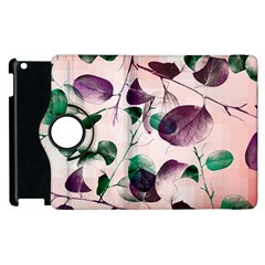 Spiral Eucalyptus Leaves Apple Ipad 3/4 Flip 360 Case by DanaeStudio