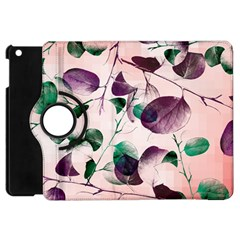 Spiral Eucalyptus Leaves Apple Ipad Mini Flip 360 Case by DanaeStudio