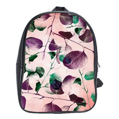 Spiral Eucalyptus Leaves School Bags (xl)  by DanaeStudio