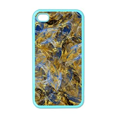 Antique Anciently Gold Blue Vintage Design Apple Iphone 4 Case (color) by designworld65