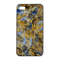 Antique Anciently Gold Blue Vintage Design Apple Iphone 4/4s Seamless Case (black) by designworld65