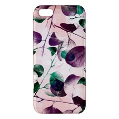 Spiral Eucalyptus Leaves Apple Iphone 5 Premium Hardshell Case by DanaeStudio