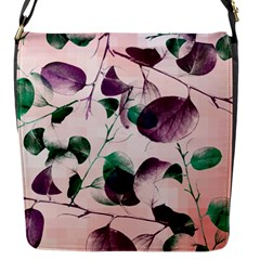 Spiral Eucalyptus Leaves Flap Messenger Bag (s) by DanaeStudio
