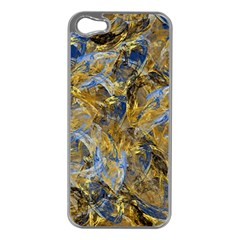 Antique Anciently Gold Blue Vintage Design Apple Iphone 5 Case (silver) by designworld65