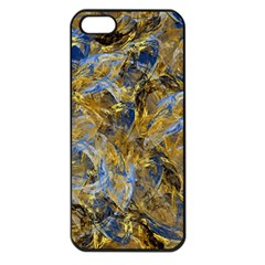 Antique Anciently Gold Blue Vintage Design Apple Iphone 5 Seamless Case (black) by designworld65