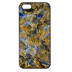 Antique Anciently Gold Blue Vintage Design Apple iPhone 5 Seamless Case (Black) Front