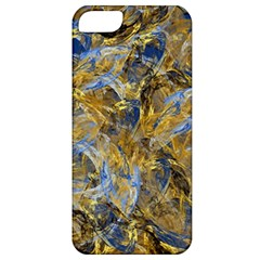 Antique Anciently Gold Blue Vintage Design Apple Iphone 5 Classic Hardshell Case by designworld65