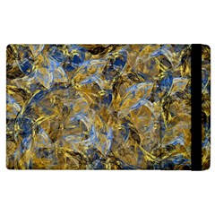 Antique Anciently Gold Blue Vintage Design Apple Ipad 2 Flip Case by designworld65