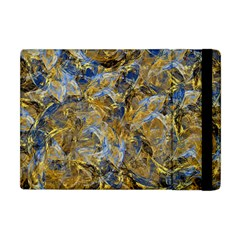 Antique Anciently Gold Blue Vintage Design Apple Ipad Mini Flip Case by designworld65