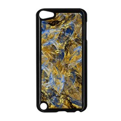 Antique Anciently Gold Blue Vintage Design Apple Ipod Touch 5 Case (black) by designworld65